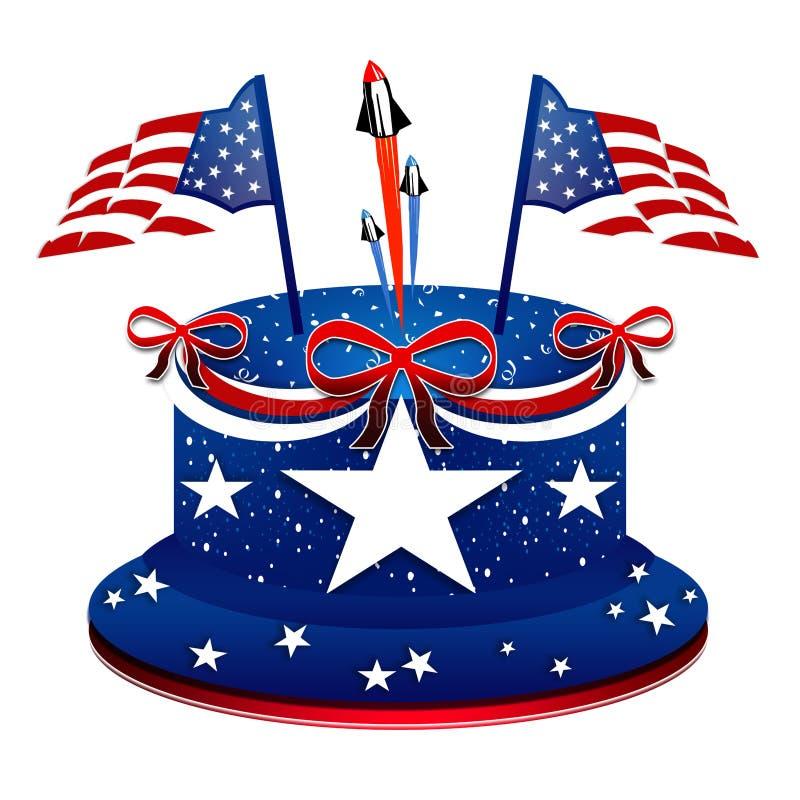 Presidentdag - patriotisk kaka stock illustrationer