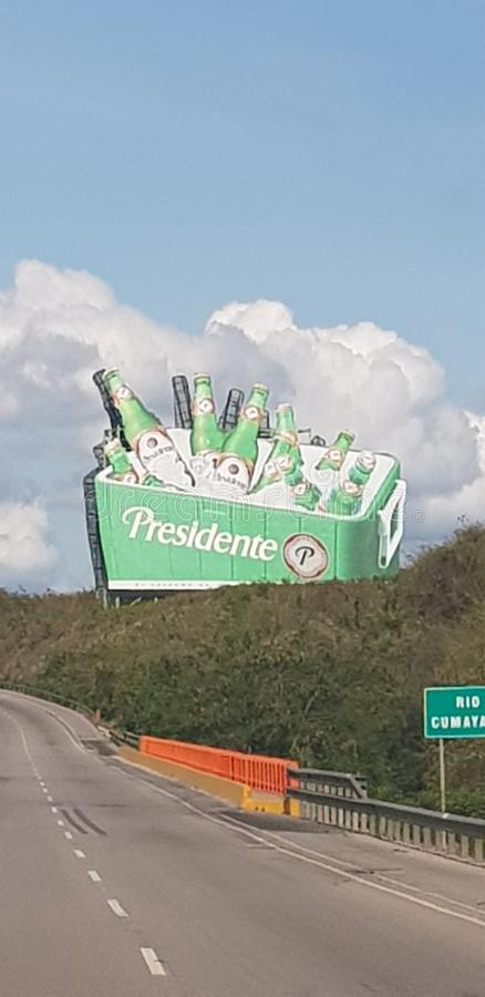 Presidente标志高速公路多米尼加共和国 图库摄影