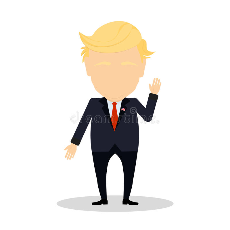 Presidente americano seguinte ilustração royalty free