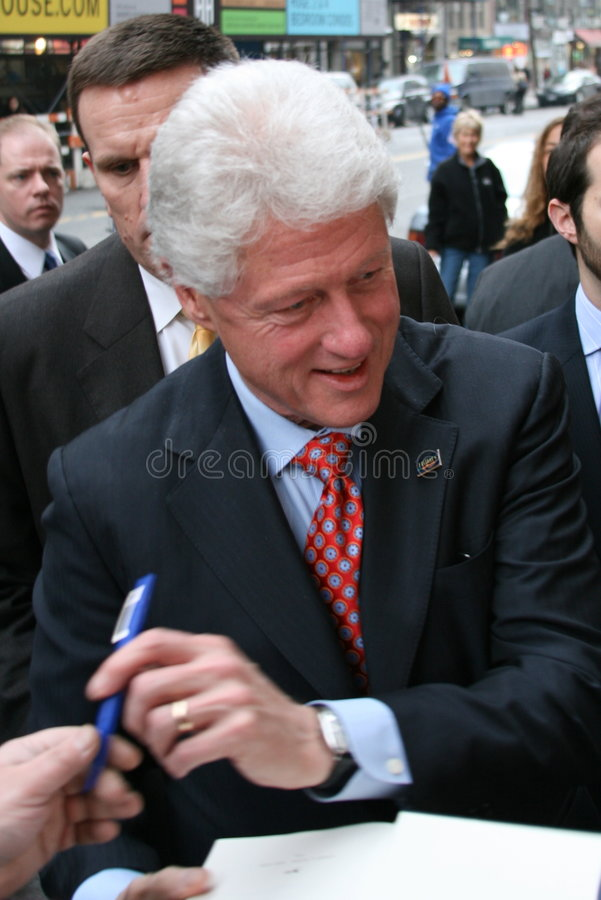 Presidente anterior Bill Clinton fotos de stock royalty free