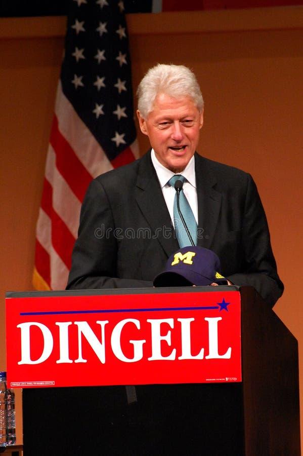 Presidente anterior Bill Clinton en la reunión de Dingell imagen de archivo