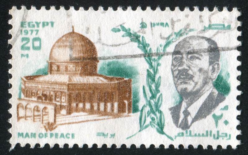 Presidente Anwar Sadat imagem de stock royalty free