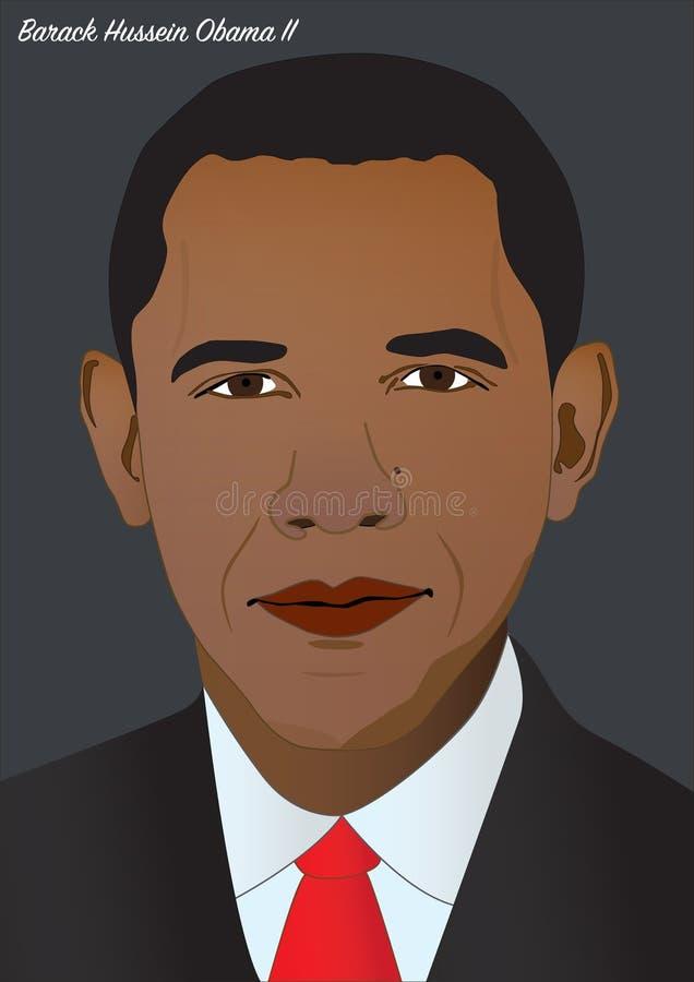 Presidente Barack Hussein Obama II ilustração do vetor