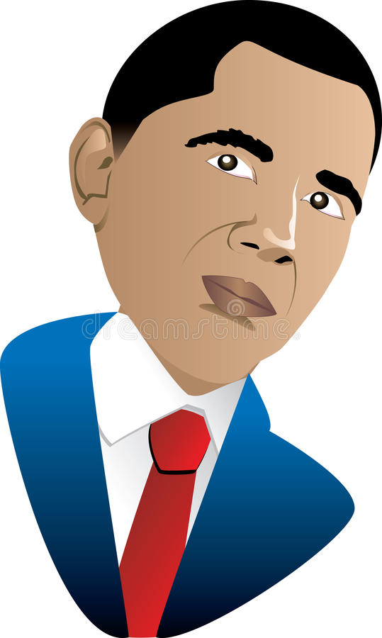 Presidente Barack Obama ilustração do vetor