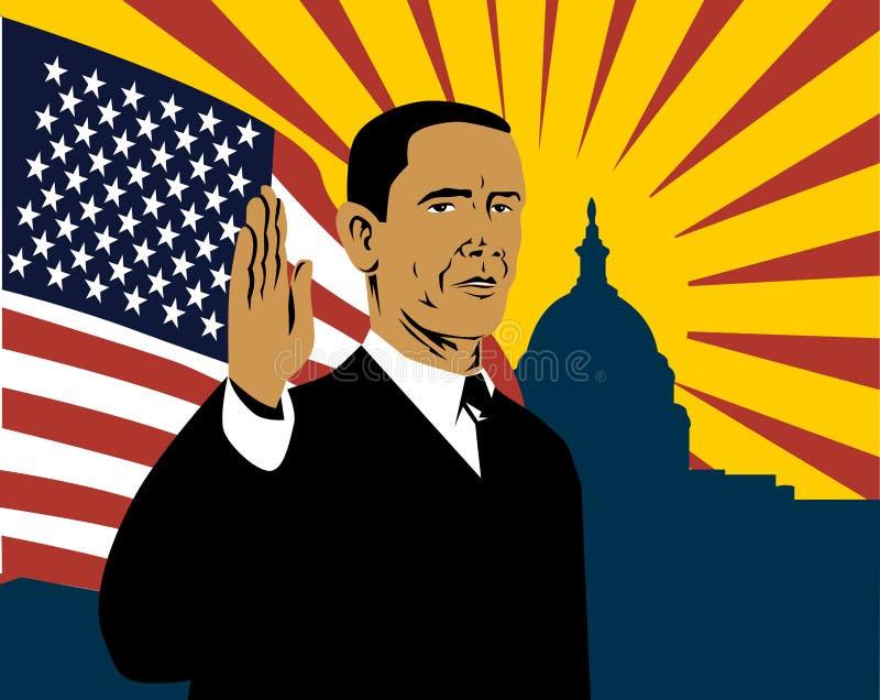 Presidente Barack Obama illustrazione di stock