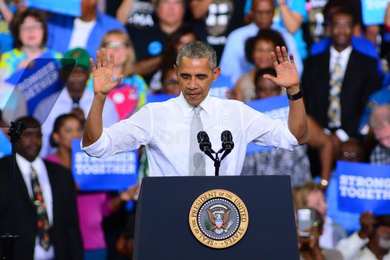 Presidente Barack Obama foto de stock