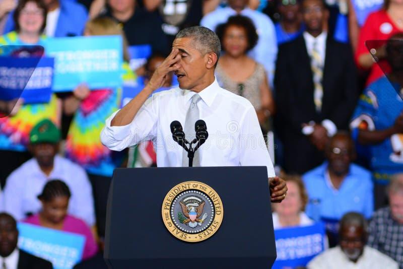 Presidente Barack Obama imagens de stock