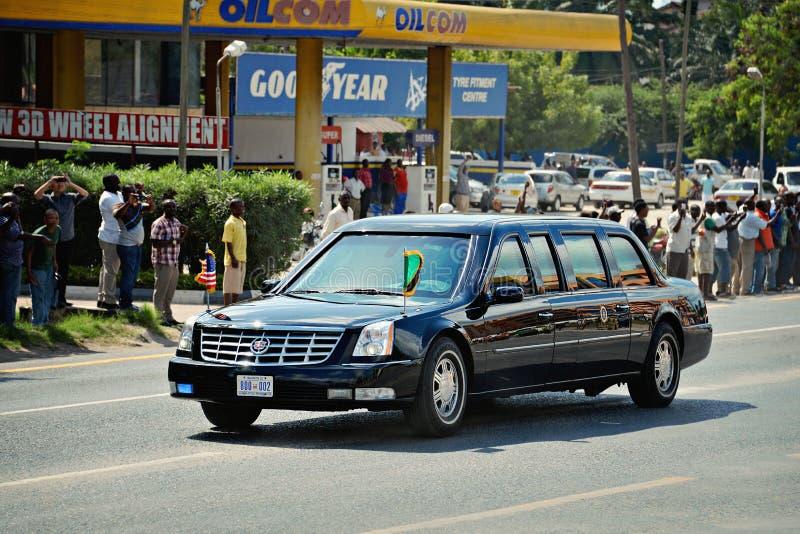 Presidente Barack Obama en Tanzania fotografía de archivo