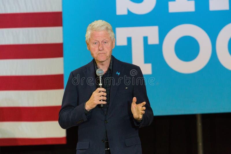 Presidente Bill Clinton na reunião para Hillary imagem de stock