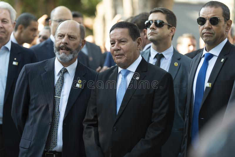 Presidente brasiliano Jair Bolsonaro fotografie stock