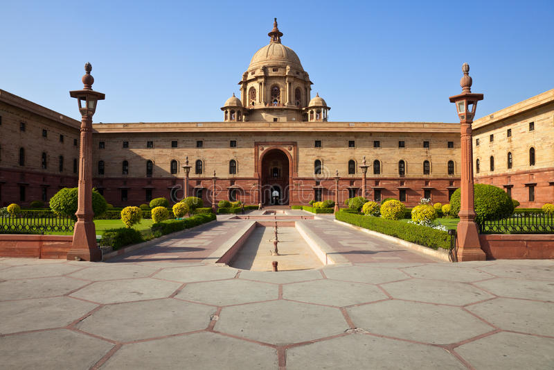 Presidente Casa de Nova Deli imagens de stock royalty free