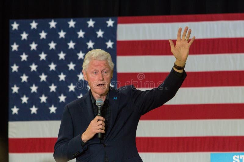 Presidente Clinton em Pensilvânia foto de stock
