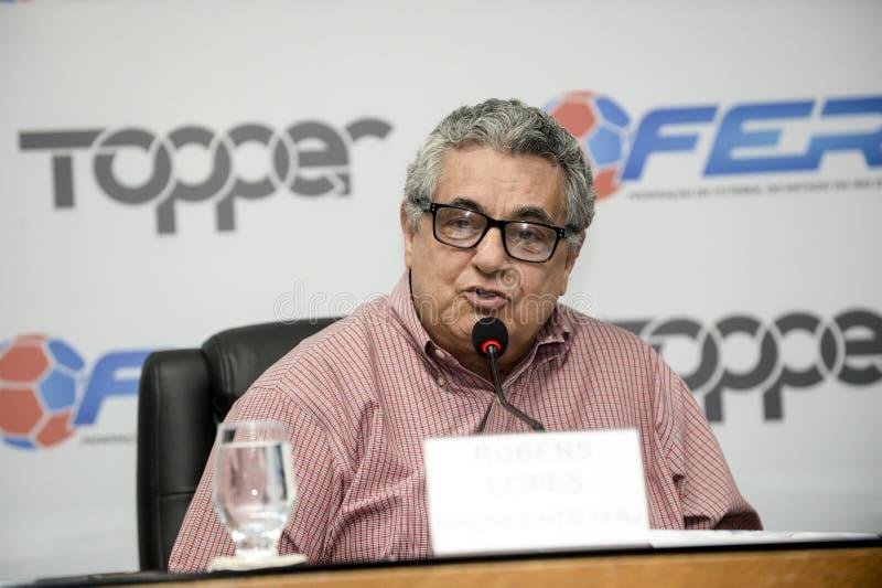 Presidente DA Federação Carioca de Futebol (FERJ), Rubens Lopes lizenzfreies stockbild