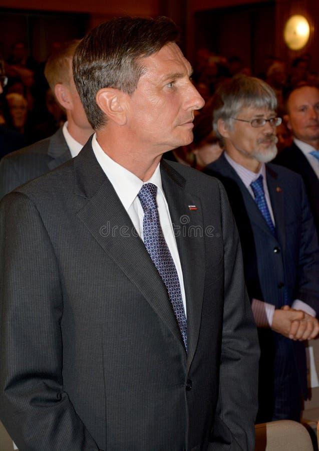 Presidente da república de Eslovênia Borut Pahor imagens de stock