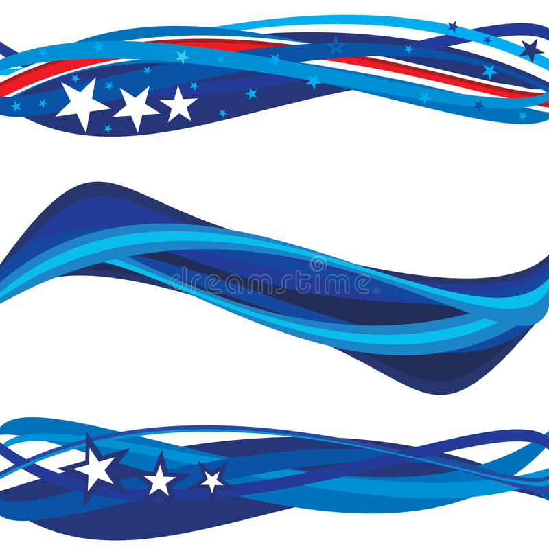 Presidente Day Headers illustrazione di stock