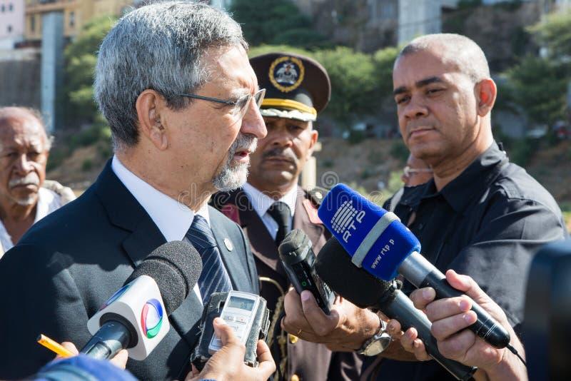 Presidente de Cabo Verde, Jorge Carlos Almeida Fonseca imagen de archivo libre de regalías
