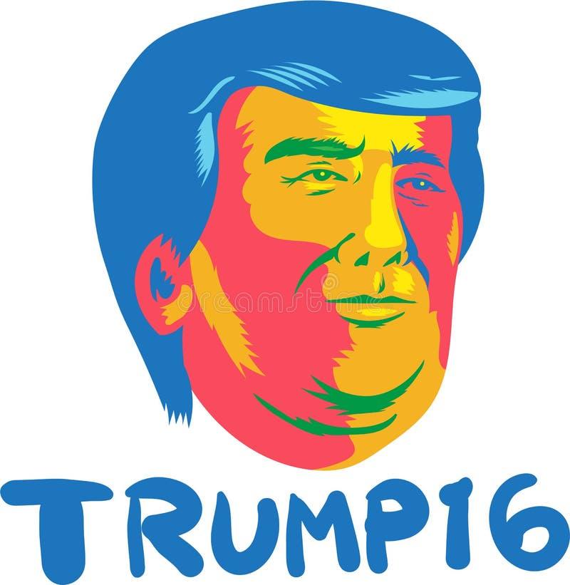 Presidente 2016 de Donald Trump Desenhos animados ilustração royalty free