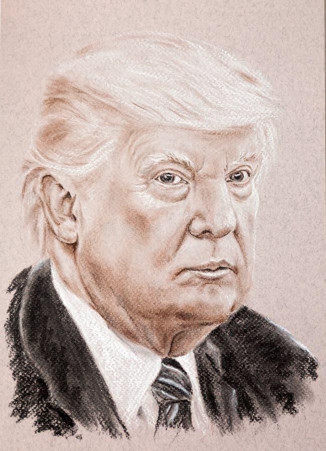 Presidente de Donald Trump do Estados Unidos da América A tirado mão fotografia de stock royalty free