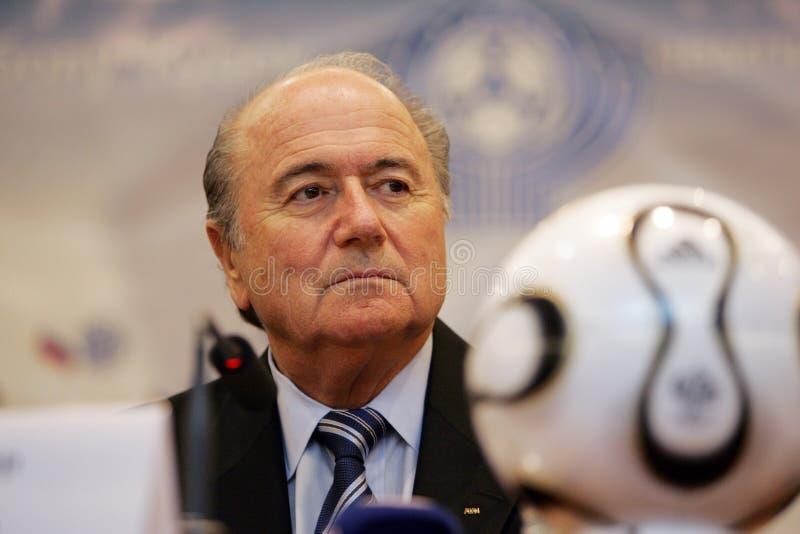 Presidente de FIFA Joseph Blatter fotos de stock royalty free