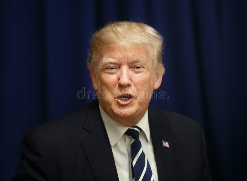Presidente de los Estados Unidos Donald Trump imagen de archivo