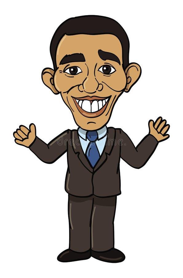 Presidente de Obama Barack ilustração do vetor