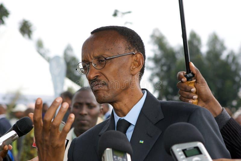 Presidente de Paul Kagame de Rwanda foto de stock royalty free