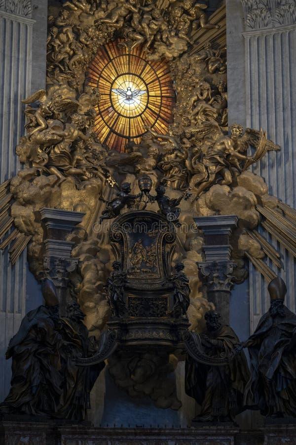 A Presidente de São Pedro em Basilica San Pietro Roma, Itália imagem de stock royalty free