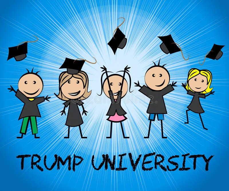 Presidente de Training College By da estudante universitário do trunfo - 2d ilustração ilustração royalty free
