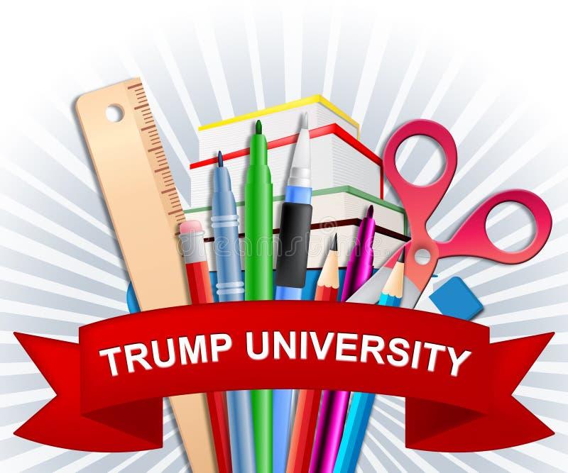 Presidente de Training College By da estudante universitário do trunfo - ilustração 3d ilustração do vetor