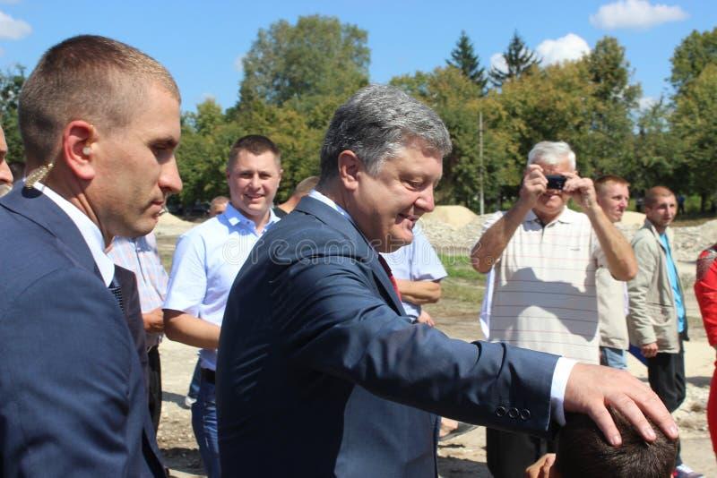 Presidente de Ucrânia Petro Poroshenko imagens de stock