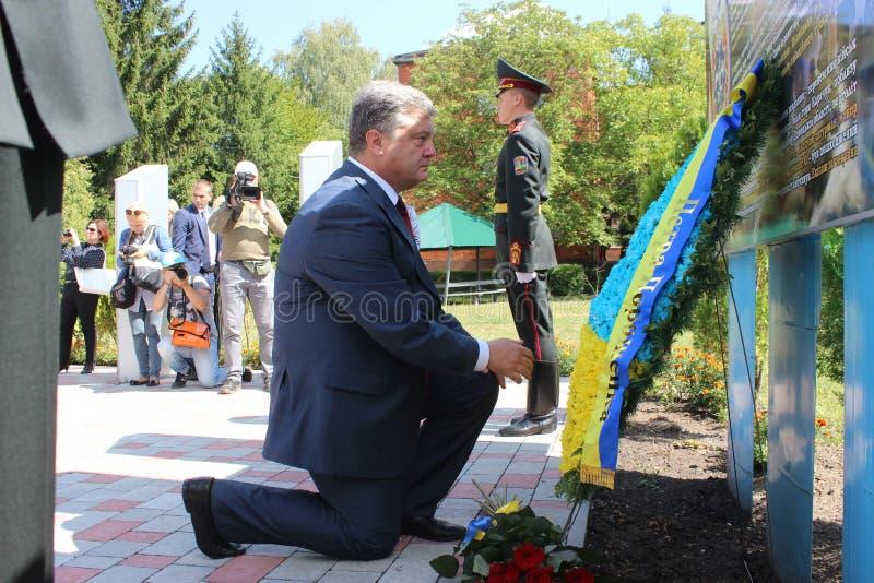Presidente de Ucrânia Petro Poroshenko imagens de stock royalty free