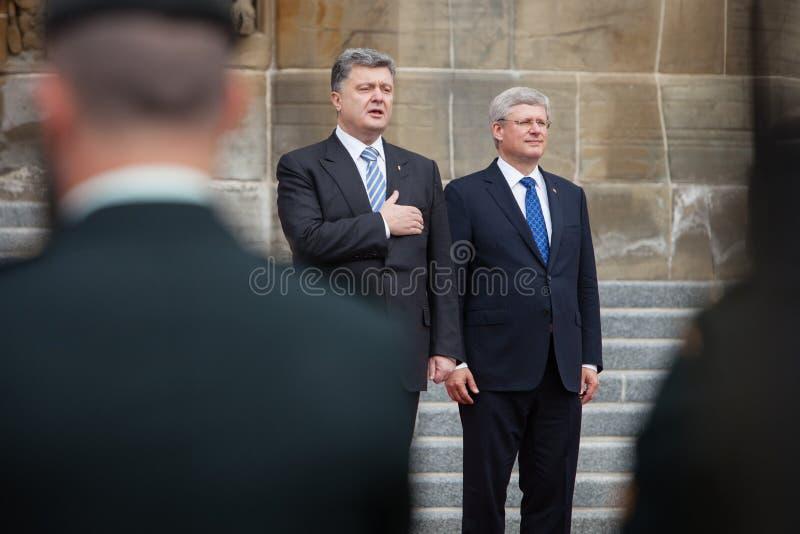 Presidente de Ucrânia Petro Poroshenko em Ottawa (Canadá) foto de stock