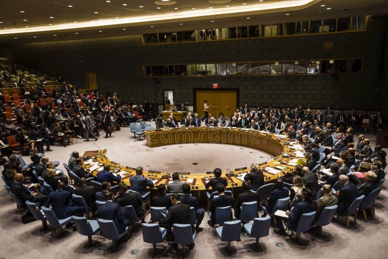 Presidente de Ucrânia Petro Poroshenko na assembleia geral do UN fotografia de stock royalty free