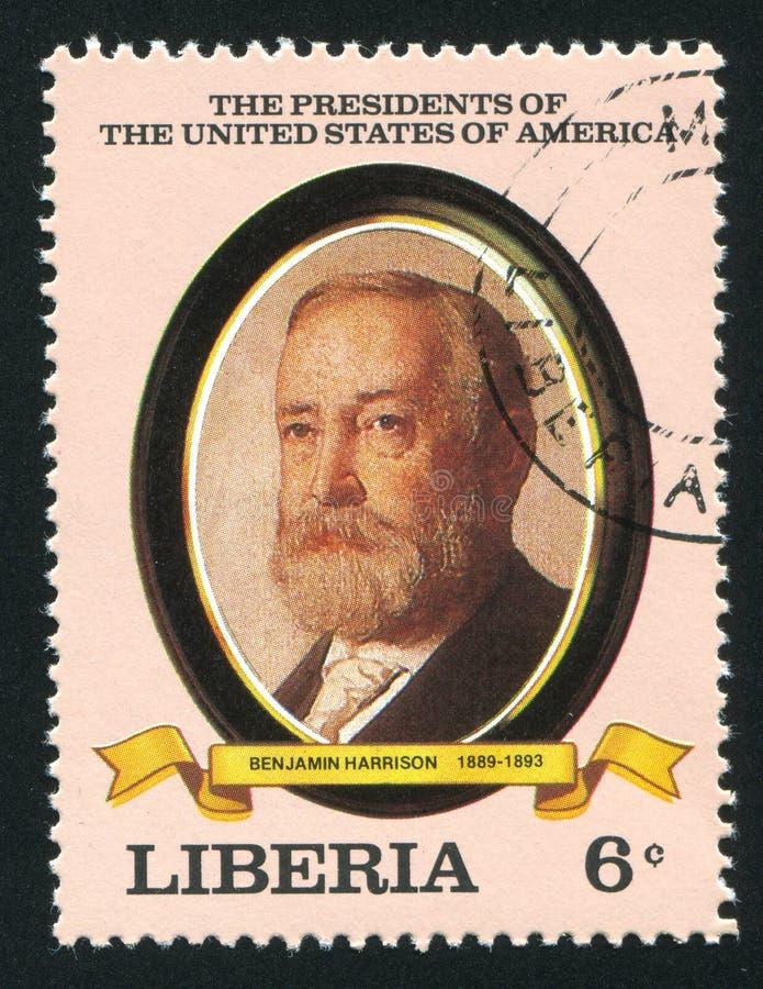 Presidente degli Stati Uniti Benjamin Harrison immagine stock libera da diritti