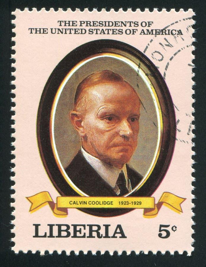 Presidente degli Stati Uniti Calvin Coolidge fotografie stock libere da diritti