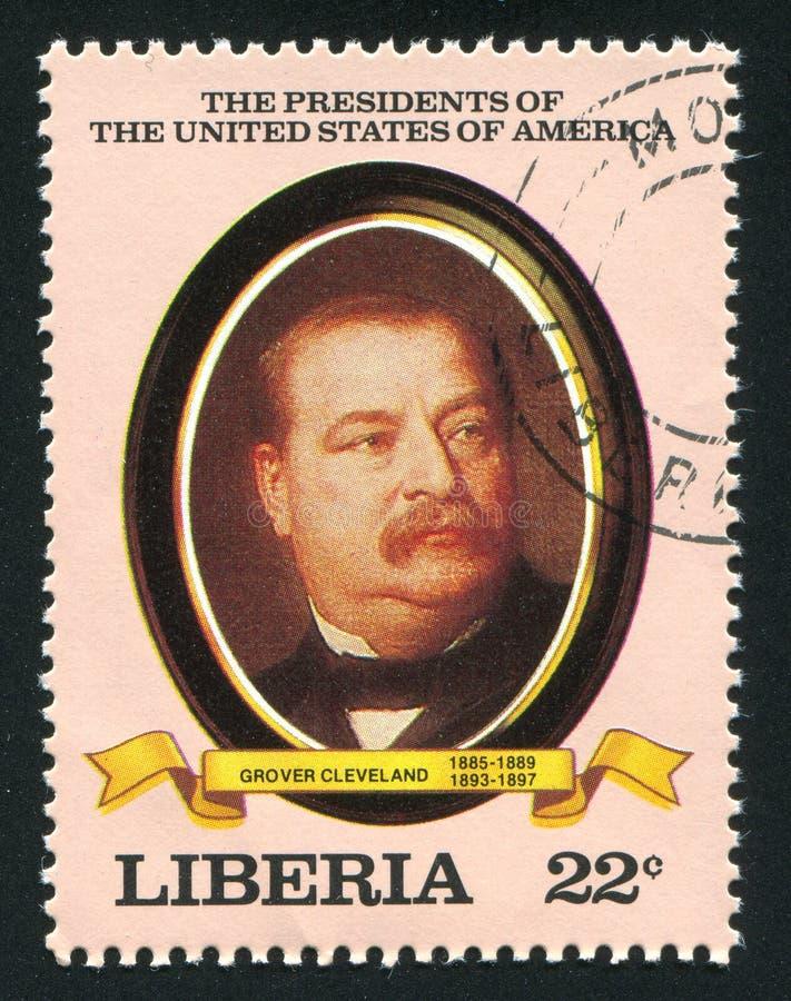 Presidente degli Stati Uniti Grover Cleveland fotografia stock libera da diritti