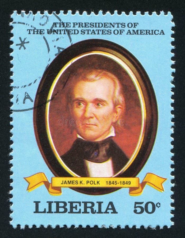 Presidente degli Stati Uniti James K polk immagine stock libera da diritti