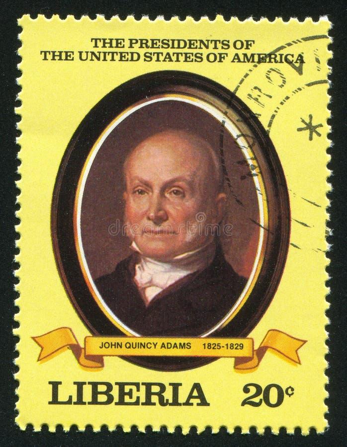 Presidente degli Stati Uniti John Q adams immagine stock