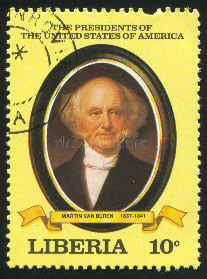Presidente degli Stati Uniti Martin Van Buren fotografia stock