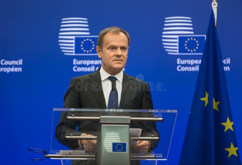 Presidente del Consejo Europeo Donald Tusk fotos de archivo