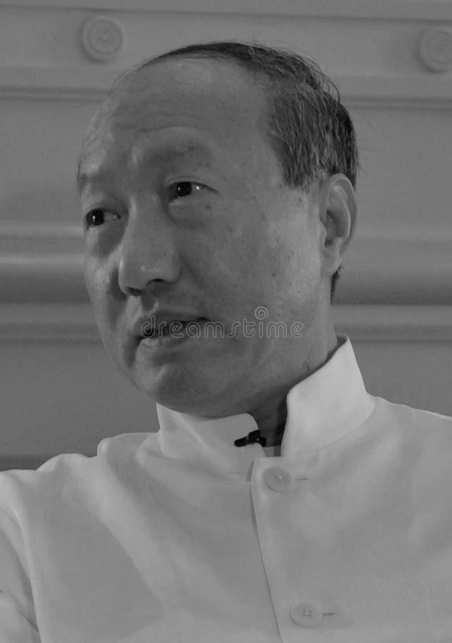 Presidente del grupo HNA, Chen Feng, ? ?, multimillonario, en un evento de negocios en Dolder Hotel, Zürich foto de archivo libre de regalías