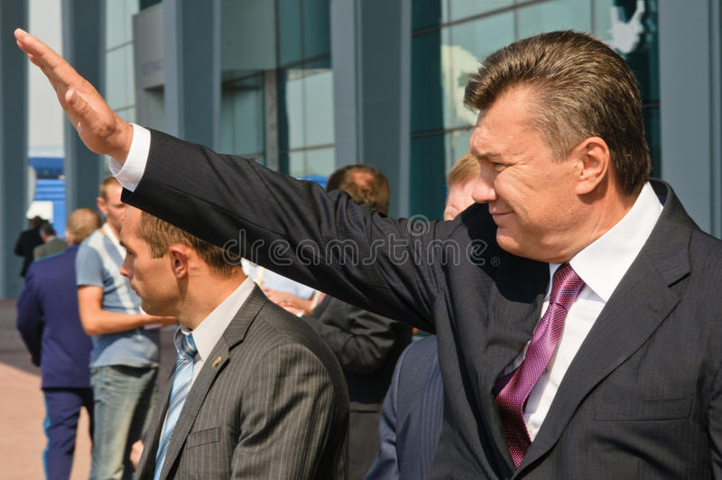 Presidente dell'Ucraina Viktor Yanukovitch fotografie stock libere da diritti