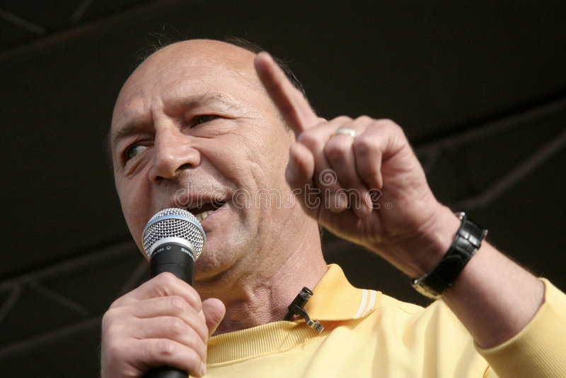 Presidente di Basescu della Romania fotografia stock libera da diritti