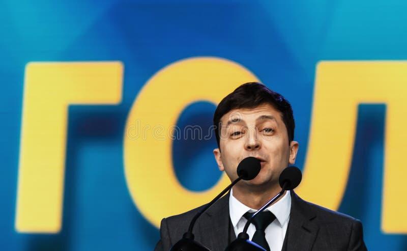 Presidente di neoeletto dell'Ucraina Vladimir Zelensky immagini stock