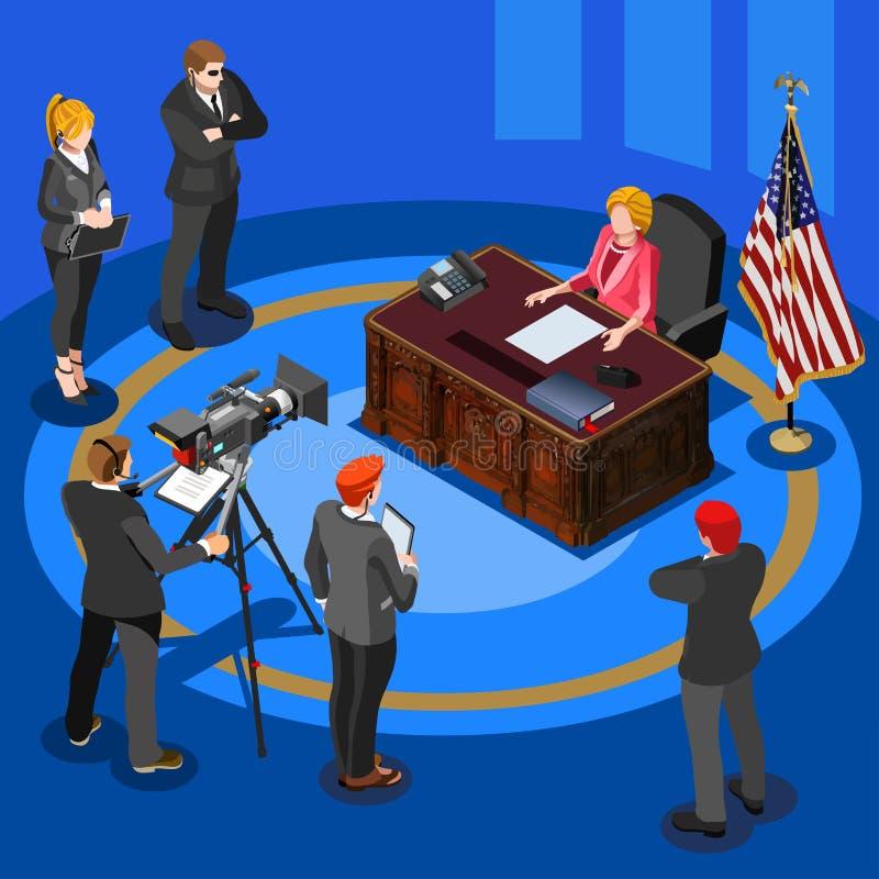 Presidente Discurso Vetor Isométrico Pessoa ilustração do vetor