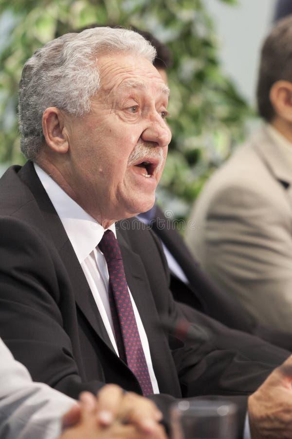 Presidente do Fotis esquerdo Democrática Kouvelis foto de stock