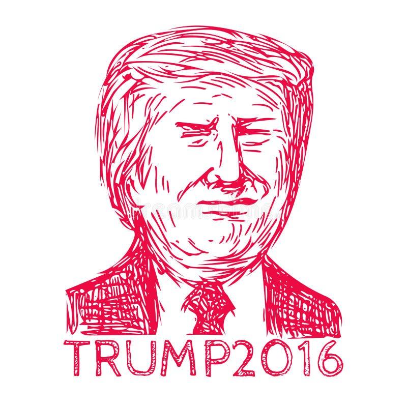 Presidente 2016 do trunfo de D ilustração stock