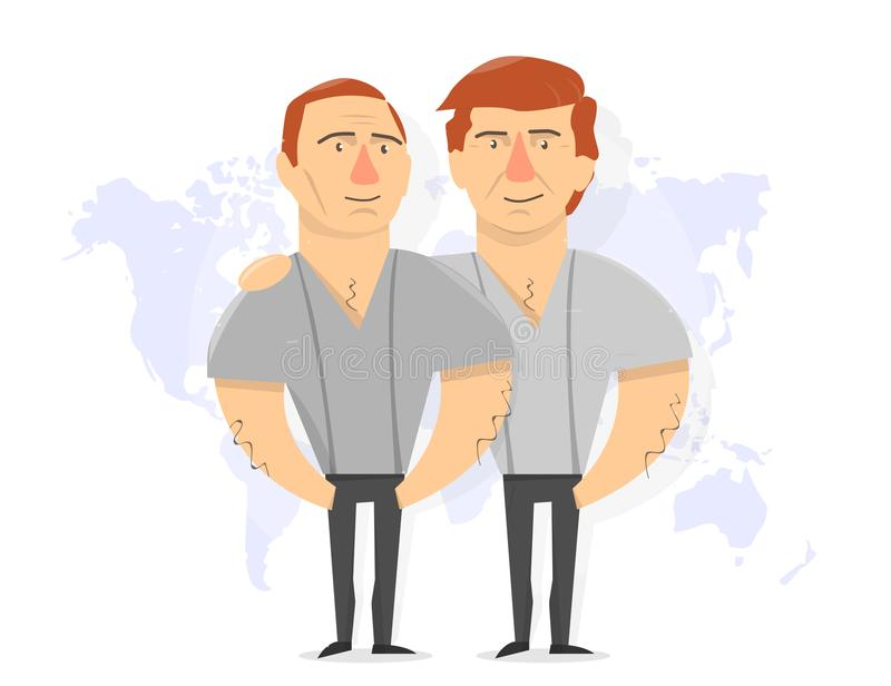 Presidente Donald Trump e Vladimir Putin ilustração royalty free