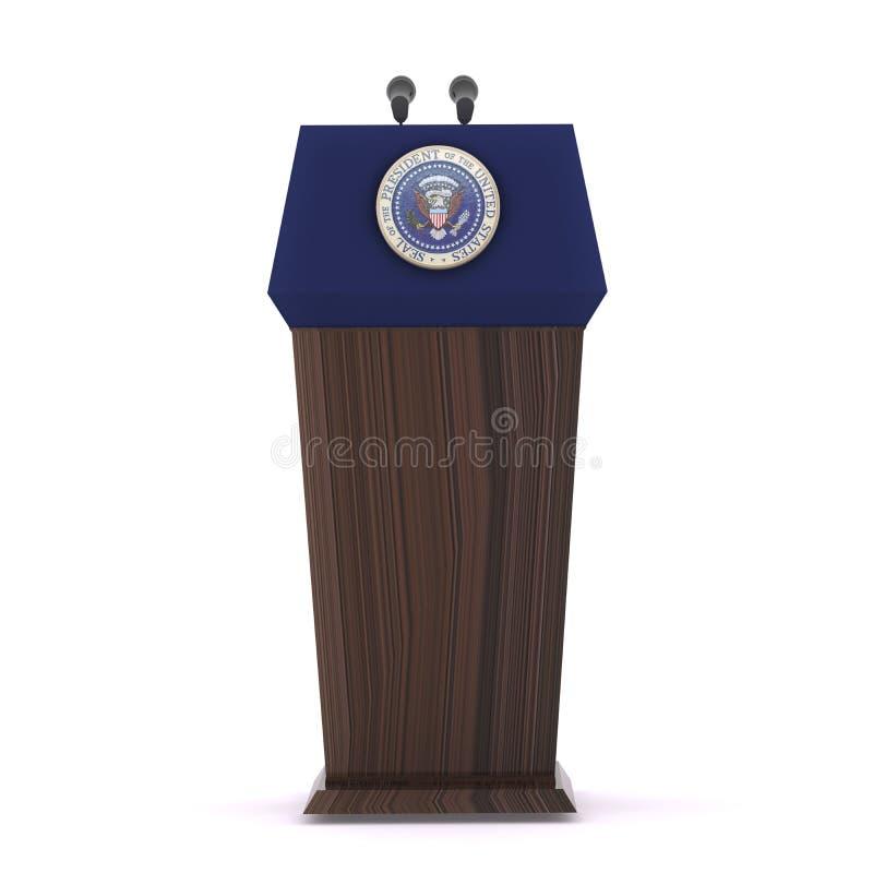 A Presidente dos Estados Unidos ilustração royalty free
