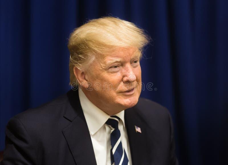Presidente dos Estados Unidos Donald Trump fotografia de stock